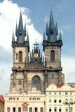 Iglesia de nuestra señora Before Tyn Foto de archivo