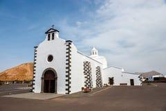Iglesia de Nuestra Senora de los Volcanes en el Blanca de Mancha Imagen de archivo libre de regalías