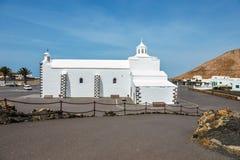 Iglesia de Nuestra Senora de los Volcanes en el Blanca de Mancha Imagen de archivo