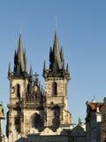 Iglesia de nuestra señora antes de Tyn Imagen de archivo libre de regalías