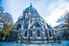 Iglesia de nuestro cerco del vom de señora Victorious Kirche Maria en Viena Austria fotos de archivo