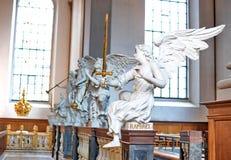 Iglesia de nuestro salvador, Copenhague fotos de archivo