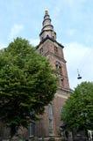Iglesia de nuestro salvador, Copenhague, Dinamarca Fotos de archivo