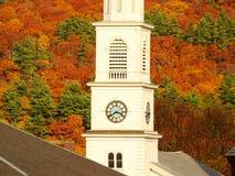 Iglesia de Nueva Inglaterra Imágenes de archivo libres de regalías