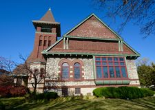 Iglesia de Oak Park Imagen de archivo libre de regalías