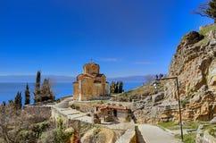 Iglesia de Ohrid Macedonia - de Kaneo Fotografía de archivo libre de regalías