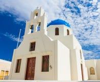 Iglesia de Oia Imagenes de archivo