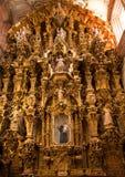 Iglesia de oro Guanajuato México de Valencia del altar Fotos de archivo