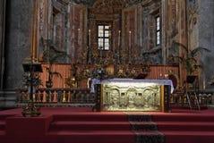Iglesia de oro Palermo de San José del altar Fotografía de archivo libre de regalías