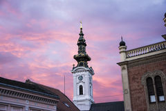 Iglesia de Ortodox en Novi Sad Serbia Foto de archivo
