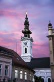 Iglesia de Ortodox en Novi Sad Serbia en el amanecer Fotografía de archivo libre de regalías
