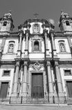 Iglesia de Palermo - de St Dominic y columna barroca Imagen de archivo