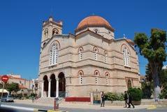 Iglesia de Panagitsa en la isla de Aegina Fotos de archivo libres de regalías