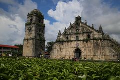 Iglesia de Paoay Foto de archivo libre de regalías