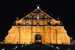 Iglesia de Paoay en la noche Filipinas foto de archivo