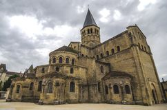Iglesia de Paray Le Monial Fotos de archivo libres de regalías
