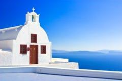 Iglesia de Pictoresque, Santorini Imagen de archivo libre de regalías