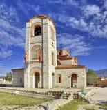 Iglesia de Plaoshnik en Ohrid, Macedonia - santo Panteleimon Fotos de archivo