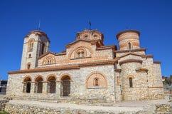 Iglesia de Plaoshnik en Ohrid, Macedonia - santo Panteleimon Fotos de archivo libres de regalías
