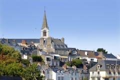 Iglesia de Pornic en Francia Imágenes de archivo libres de regalías