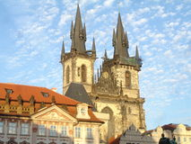 Iglesia de Prag Foto de archivo libre de regalías