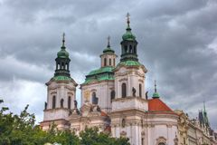 Iglesia de Praga Fotos de archivo libres de regalías