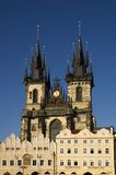 Iglesia de Praga - de Tyn Foto de archivo
