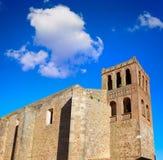Iglesia de Puebla de Sancho Perez en Extremadura fotos de archivo