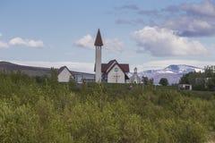 Iglesia de Reykholt Fotos de archivo libres de regalías