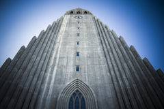 Iglesia de Reykjavik fotografía de archivo