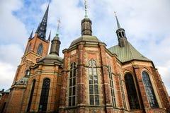 Iglesia de Riddarholm, la iglesia del entierro de los monarcas suecos Imágenes de archivo libres de regalías