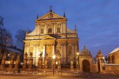 Iglesia de Roman Catholic Imagen de archivo libre de regalías