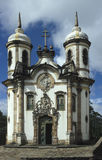 Iglesia de São Francisco por Aleijadinho en Ouro Preto, el Brasil Foto de archivo libre de regalías