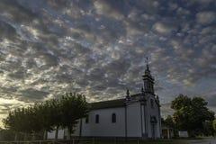 Iglesia de Saavedra foto de archivo libre de regalías