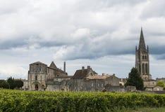 Iglesia de Saint Emilion Francia Foto de archivo