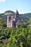 Iglesia de Saint Nectaire fotografía de archivo libre de regalías