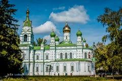 Iglesia de Sampsonian, campo de la batalla de Poltava imagen de archivo libre de regalías