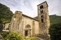 Iglesia de San Cristobal de Beget Royaltyfri Fotografi