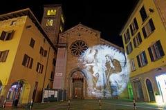 Iglesia de San Fedele con la familia santa Fotografía de archivo libre de regalías