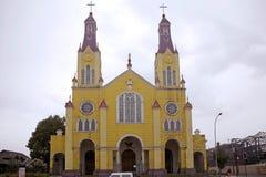 Iglesia de San Francisco, Castro, Chile fotografía de archivo