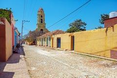 Iglesia de San Francisco de Asisin the old town, Trinidad, Cuba Stock Image