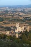 Iglesia de San Francisco en Assisi Imágenes de archivo libres de regalías