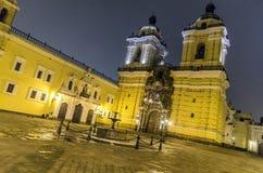 Iglesia de San Francisco, Lima imágenes de archivo libres de regalías