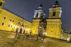 Iglesia de San Francisco, Lima Imagens de Stock Royalty Free