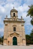 Iglesia de San Giacomo St James en los jardines comunales Giard foto de archivo libre de regalías