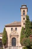 Iglesia de San Gil y Santa Ana in Granada Royalty Free Stock Image