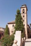 Iglesia de San Gil y Santa Ana in Granada Royalty Free Stock Images