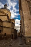 The Iglesia de San Ildefonso is a Baroque style church royalty free stock photo