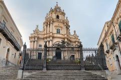 Iglesia de San Jorge en Ibla Sicilia Fotografía de archivo libre de regalías
