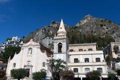 Iglesia de San José, Taormina, Sicilia Imagenes de archivo